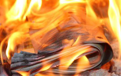 Certidão de nascimento queimada